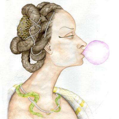 Cléopâtre et son malabar - Magali Sire - Vue Sur Cours