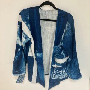 Kimono «Destin» – Bleu Sensible